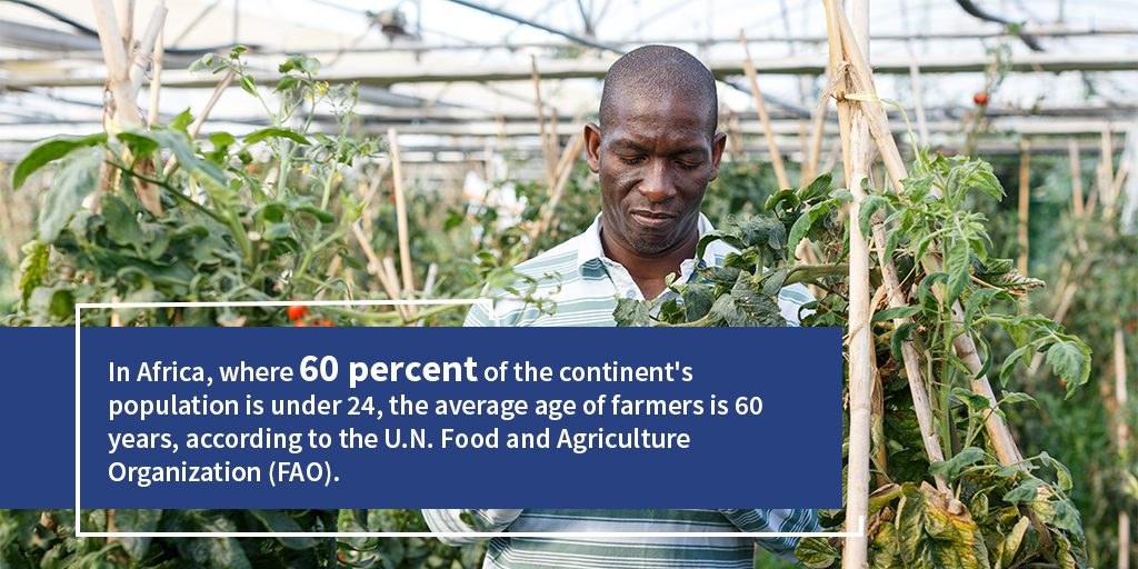 Statistic for lack of youth population in agriculture sector