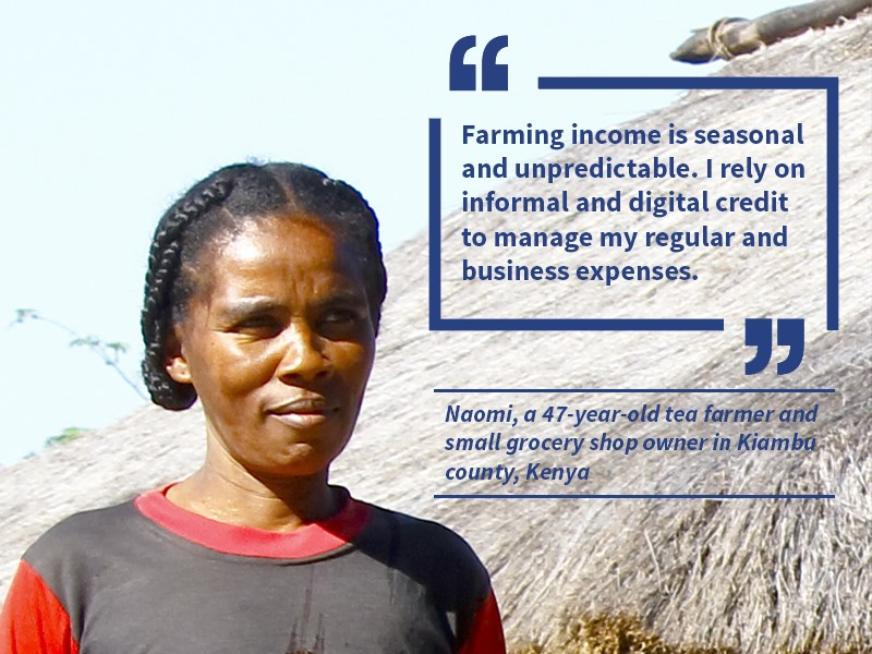 Naomi, 47 year old farmer in Kenya
