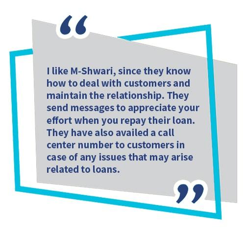 Testimonial for M shwari