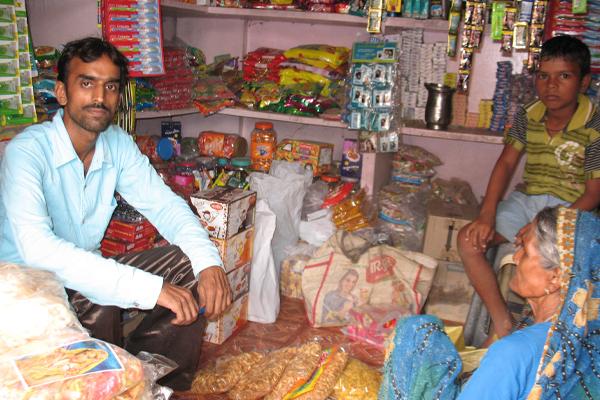 Corner shop in India