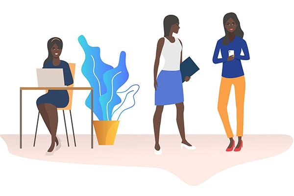 Working African Women- Vector